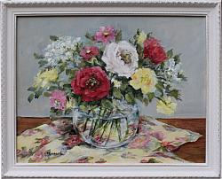 Original Painting - Happy Flowers - FREE POSTAGE Australia wide
