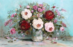 """Original Painting on Panel - """"A Cheerful Bunch"""" - Postage is included Australia Wide"""