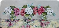 Vintage Fabric & Flowers - Postage is included Australia wide