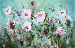 Original Painting on Panel - Peonies in Motion - Postage is included Australia Wide