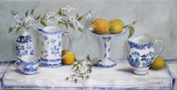 """Original Painting on Panel - """"Blue & White Collection"""" - Postage is included Australia Wide"""