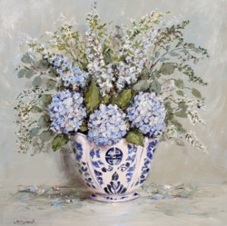 "Original Painting on Panel - ""Hydrangea Arrangement"" - Postage is included Australia Wide"