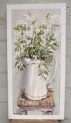 Original Painting on Panel - Farm house Enamel Jug - Postage is included Australia Wide