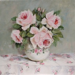 Original Painting on Panel - Rose Arrangement - Postage is included Australia Wide