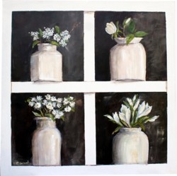 Original Painting on Panel - Collection of Farmhouse Pots - Postage is included Australia Wide
