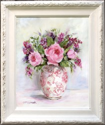 Original Painting - Vase & Flowers - Postage is included Australia Wide