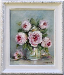 Original Painting - Jar & Roses - Postage is included Australia Wide