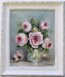 Original Painting - Jar & Roses - Postage is included Australia Wide