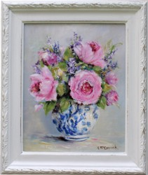 Original Painting - Pinks and Lavenders - Postage is included Australia Wide