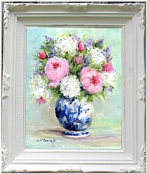 Original Painting - My Garden Blooms - Postage is included Australia Wide