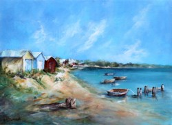 Original Painting on Panel - Mornington Peninsula Beach Scene - Postage is included Australia Wide
