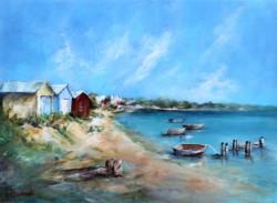 Original Painting on Panel - Mornington Peninsula Beach Scene - Postage is included Australia Wide