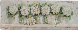 Original Painting on Panel - Hydrangeas in a Row - Postage is included Australia Wide