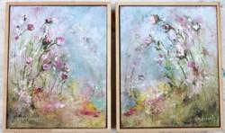 Pair of Original Paintings - Fantasy Land sold