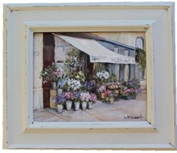 Original Painting - Fleuriste - Postage is included Australia Wide