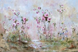 Original Painting on Panel - Flower Enchantment - Postage is included Australia Wide