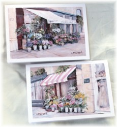 Gift Card - set of 2 - French Fleuriste set - Free Postage Australia wide only