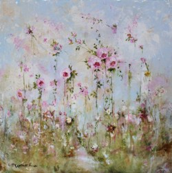 Original Painting on Panel - Escape to Flower Land - Postage is included Australia Wide