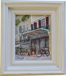 Original Painting - A Street in Paris - Postage is included Australia Wide