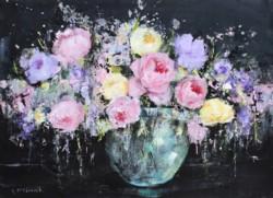 Original Painting on Panel - Pastel Roses