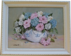 "Original Painting - ""Bouquet of Summer Blooms"" - FREE POSTAGE Australia wide"