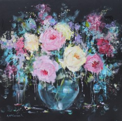 Original Painting on Panel - Glorious Roses- SOLD