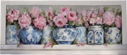Original Painting on Panel - Blue & White on a Shelf