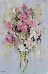 Original Painting on Panel - Faded Roses