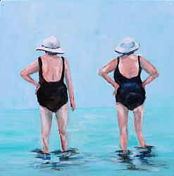 ORIGINAL Painting on Canvas - Two Old Friends - postage included Australia wide
