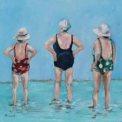 Original Painting on Canvas - Three Friends - postage included Australia wide