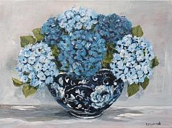Original Painting on Canvas - Shades of Blue and Whites - postage included Australia wide