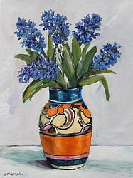 ORIGINAL Painting on Canvas - Hyacinths - postage included Australia wide
