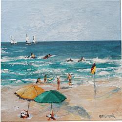 ORIGINAL Painting on Canvas - Summer's Start A - 20 x 20cm series