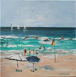 ORIGINAL Painting on Canvas - Summer's Start B - 20 x 20cm series