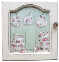 Original Painting - Rose Patterned China - FREE POSTAGE Australia wide
