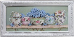 Original painting Vintage China & HydrangeasPostage is included Australia Wide
