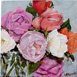 Original Painting on Canvas - Local Roses - 20 x 20cm series