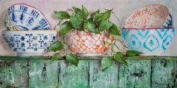 Original Painting on Panel - Moroccan Bowl Collection - Postage included Australia wide