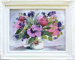 Original Painting - Assorted Posy - Postage included Australia wide