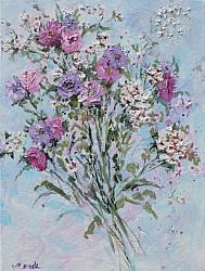 ORIGINAL Painting on Canvas - Cottage Garden Bunch - postage included Australia wide