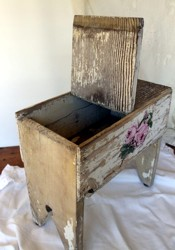 Old Chippy Stool with Hand Painted Roses