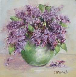 Original Painting on Canvas - Lilacs - 20 x 20cm series