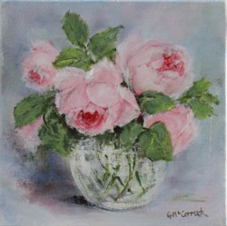 Original Painting on Canvas - Roses - 20 x 20cm series