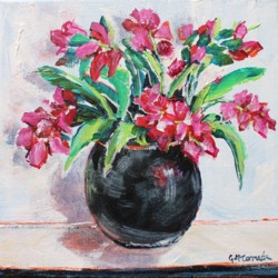 Original Painting on Canvas - Assorted Pinks - 20 x 20cm series