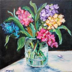 Original Painting on Canvas - Vibrant Blooms - 20 x 20cm series
