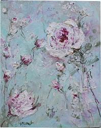 Original Painting on Canvas - Scattered Flowers (A) - SOLD