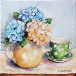 Original Painting on Canvas - Jug & Tea cup - 20 x 20cm series