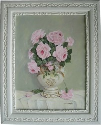 Original Painting - First Summer Rose Blooms - Free Postage Australia wide