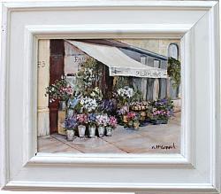 Original Painting - Fleuriste - Postage is included Australia Wide