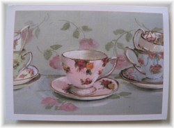 Gift Card-Single card - Cups and Saucers - Free Postage Australia wide only